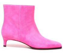 Agatha Suede Ankle Boots Bright Pink
