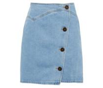 Woman Amita Denim Mini Wrap Skirt Light Denim