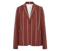 Striped cotton-faille blazer