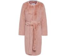 Woman Adina Belted Faux Fur Coat Antique Rose