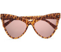 Cat-eye Leopard-print Acetate Sunglasses Light Brown Size --