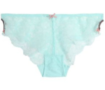 Scalloped lace mid-rise briefs