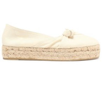 Knotted canvas espadrilles
