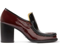 Kenia Two-tone Patent-leather Pumps Merlot