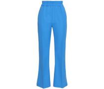 Stretch-crepe Bootcut Pants Azure