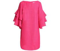 Ruffled woven mini dress