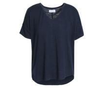 Sutton slub linen-blend jersey T-shirt