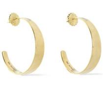 18-karat gold hoop earrings