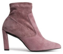 Suede Ankle Boots Antique Rose
