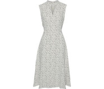 Woman Flared Printed Cady Dress Ivory