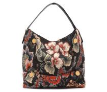 Floral-jacquard Shoulder Bag Dark Brown Size --