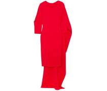 Cape-effect cutout stretch-crepe maxi dress