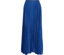Metallic silk-blend jacquard maxi skirt
