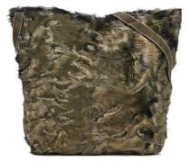 Calf Hair Shoulder Bag Army Green Size --