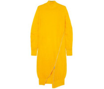Woman Zip-detailed Wool Turtleneck Midi Dress Marigold