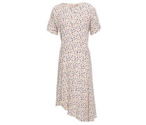 Printed Silk Crepe De Chine Dress Ivory