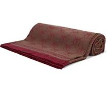 Frayed wool-jacquard scarf