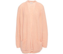 Woman Ribbed-knit Cardigan Peach