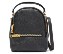 Wilson Convertible Textured-leather Backpack Black Size --