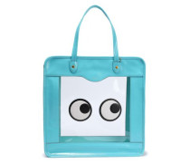 Rainy Day Appliquéd Pvc And Crinkled Patent-leather Tote Turquoise Size --