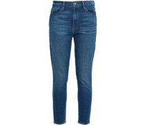 Faded High-rise Skinny Jeans Mid Denim  4