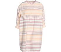 Striped cotton-canvas mini dress