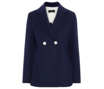 Woman Double-breasted Wool And Cashmere-blend Blazer Navy
