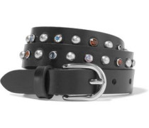 Kerria embellished leather belt