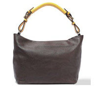 Leather Tote Chocolate Size --