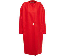 Woman Oversized Wool-felt Coat Red
