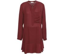 Montana Silk-crepe Mini Dress Brick Size 0
