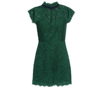 Raquel cotton-blend corded lace playsuit