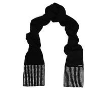 Embellished merino wool scarf