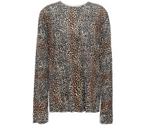 Woman Leopard-print Wool Sweater Animal Print