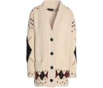 Intarsia wool and alpaca-blend cardigan