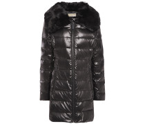 Woman Faux Fur-trimmed Quilted Shell Down Jacket Black