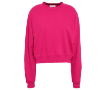 The Milan French Cotton-terry Sweatshirt Fuchsia