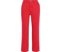 Jerry High-rise Straight-leg Jeans Red  4