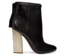 Bandelier fringed leather ankle boots