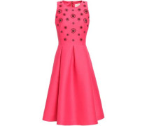 Embellished Pleated Woven Dress Pink