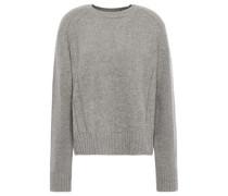 Mélange Wool-blend Sweater Gray