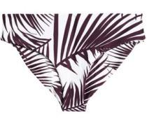 Cruz Bay printed low-rise bikini briefs