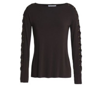 Lace-up modal-blend top