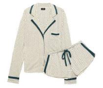 Printed Pima Cotton And Modal-blend Jersey Pajama Set Ivory