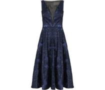 Tinsel-embellished organza midi dress