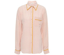 Printed Silk Shirt Pink