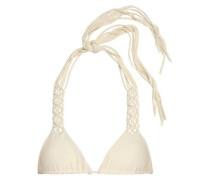 Knotted stretch-knit triangle bikini top