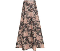 Cloqué cotton maxi skirt