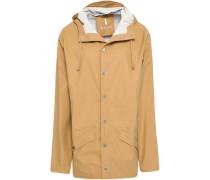 Coated Shell Hooded Raincoat Mustard  /L