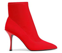 Irim Stretch-knit Ankle Boots Red